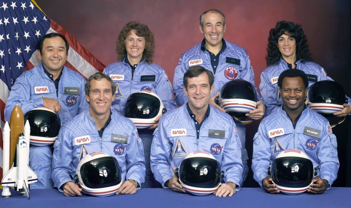 RIP Dick, Mike, Ron, Judith, Greg, Ellison and Christa. The crew of the Space Shuttle Challenger. They reached heaven on this date in 1986.  #Challenger #ThisDayInHistory