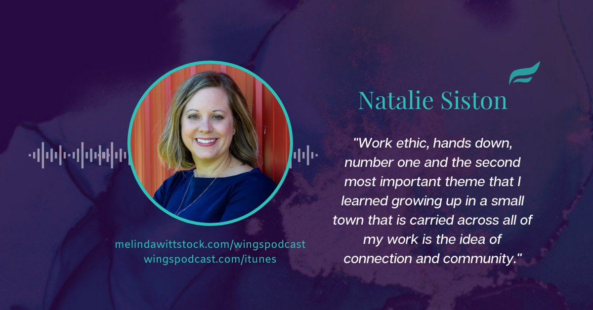 #ThursdayThoughts with Natalie Siston about small town leadership for big entrepreneurial success. Listen  #WingsOfInspiredBusiness #GrabYourWings #womenentrepreneurs