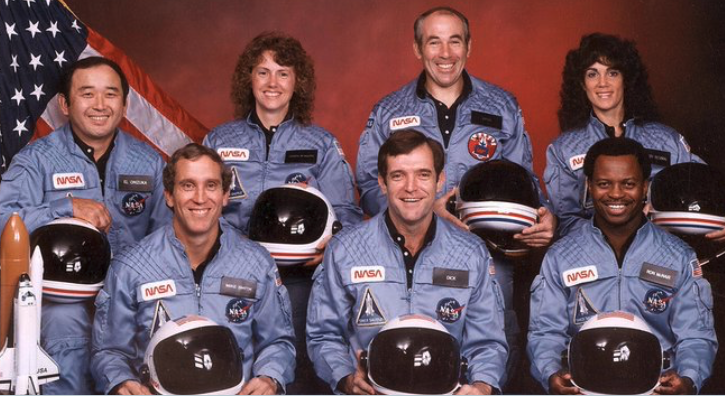 """""""Challenger, go with throttle up..."""" With those words 28 years ago, the Space Shuttle Challenger was doomed. The vehicle exploded, due to failure of the o-rings because it was too cold that morning for them to work. All of the astronauts were killed in the disaster. #Challenger"""