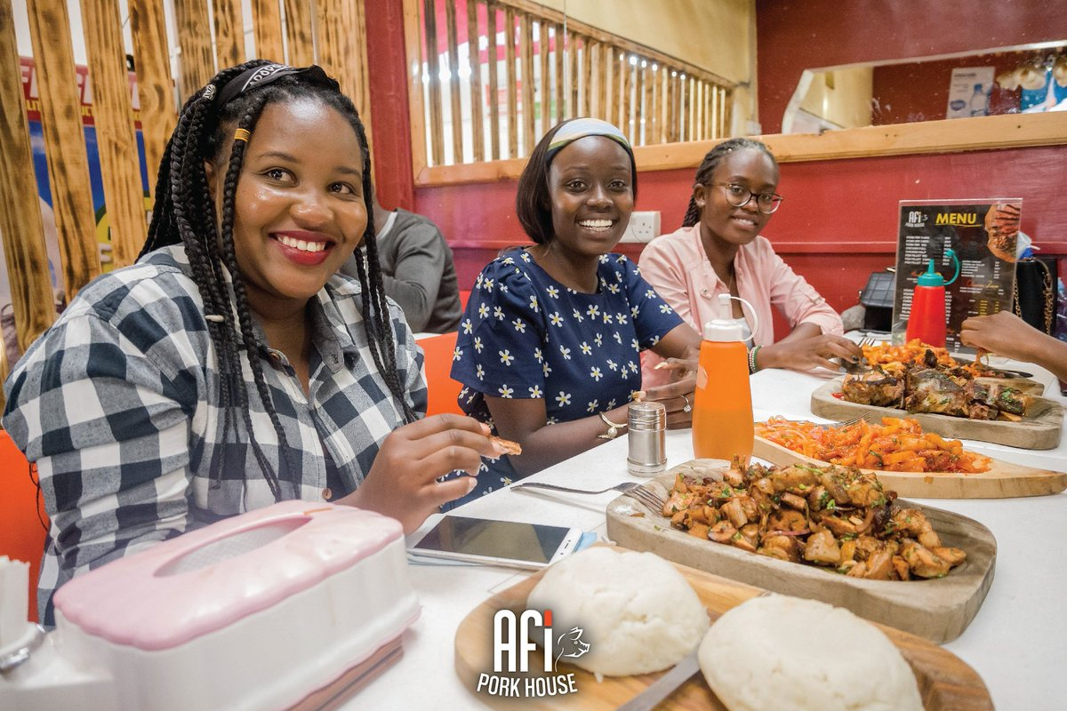 It doesn't get cooler than this in Nairobi 🇰🇪... Welcome to the #thursdayvibes at Afi Pork House, the home of excellence pork 😋🤗