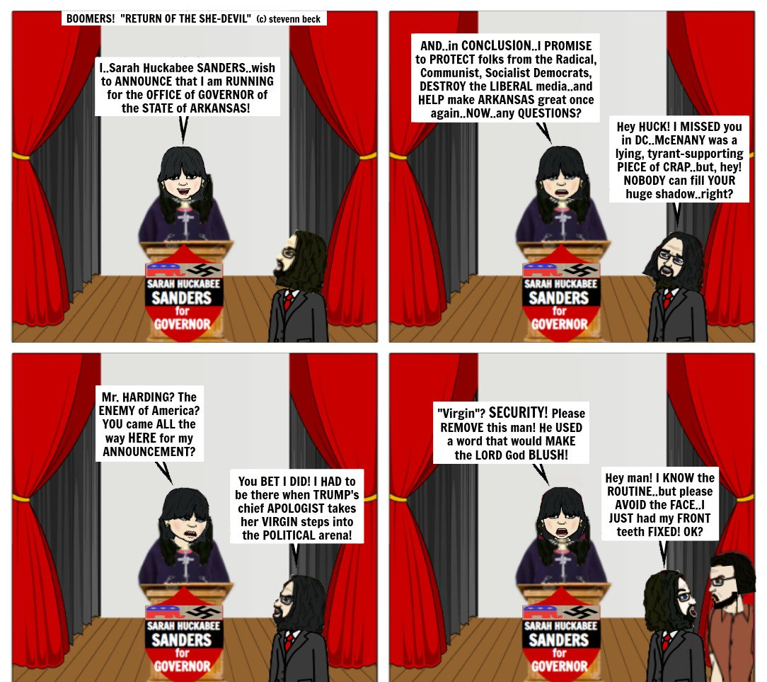 """Today's BOOMERS! (c)stevenn beck """"RETURN OF THE SHE-DEVIL"""" Follow BOOMERS! on FB-Twitter-IG #nohate #justice #TrumpOut #freedomofreligion #science #LGBTQ  #love #actor #Equality #Truth #friends #Resistance #TrumpCoupAttempt #FreedomOfSpeech #sleep #ImpeachTrump #ImpeachTrumpNow https://t.co/eete0vSIVC"""