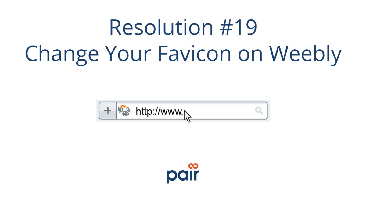 Customize your Weebly website's favicon to match your brand.     #ThursdayMorning #brandin #webdesign #ecommtips