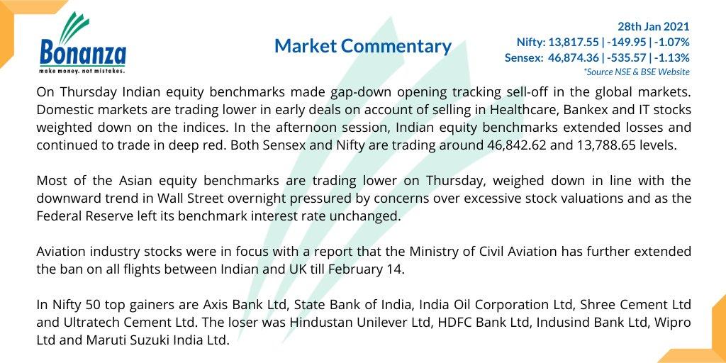 #BonanzaResearch   Market Closing Commentary of the day.  #ThursdayThoughts  #thursdayvibes