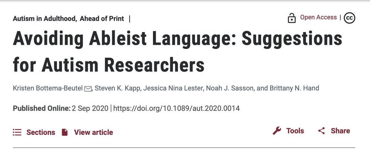 """Throwback Thursday!  """"Avoiding Ableist Language: Suggestions for Autism Researchers"""""""
