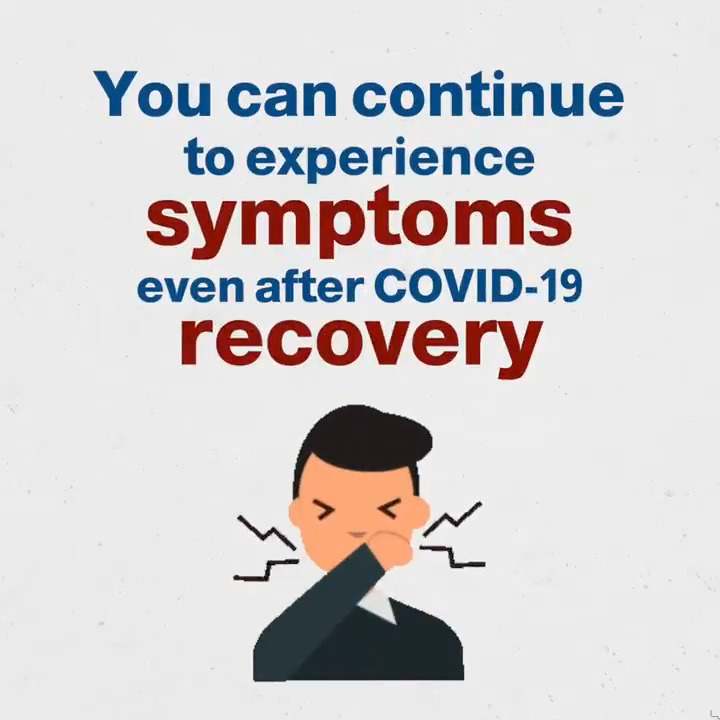 Symptoms such as fatigue, headaches, body aches, coughing, and more can continue to linger even months after recovery.   #TimeToAbide