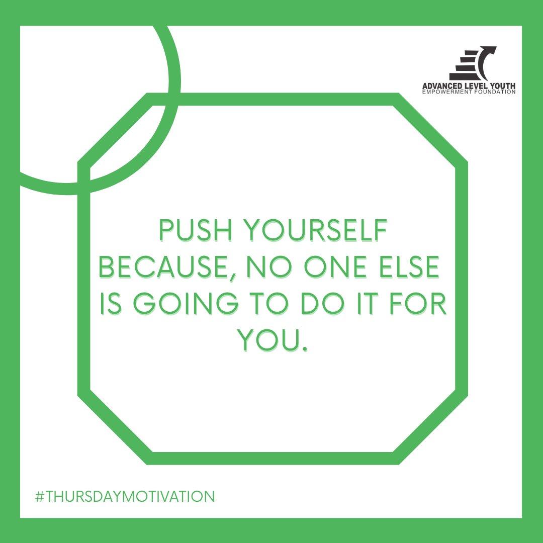 Be your own cheerleader. #ThursdayMotivation #alyefoundation #forabettertomorrow #FolloMe