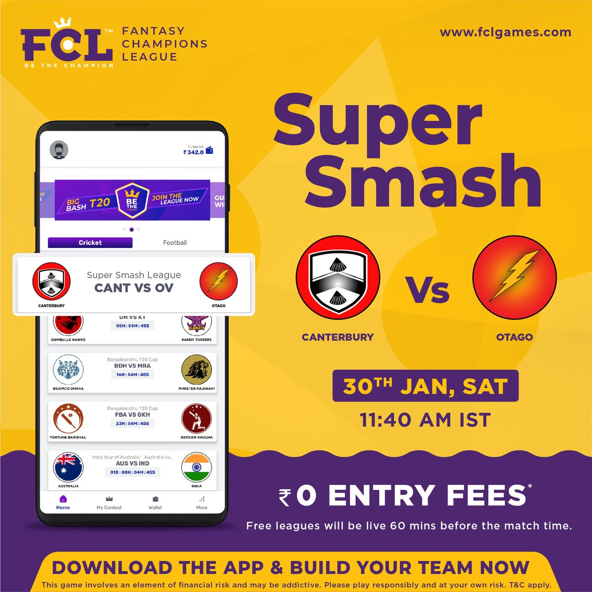 Build your Team now in Big Bash T20 League. Download the APP now from  & get a sign-up bonus of Rs. 200 (limited period offer). . . . . #fcl #fclgames #fantasygames #cricketfever #cricket #bethechampion #fantasycricketapp #supersmash