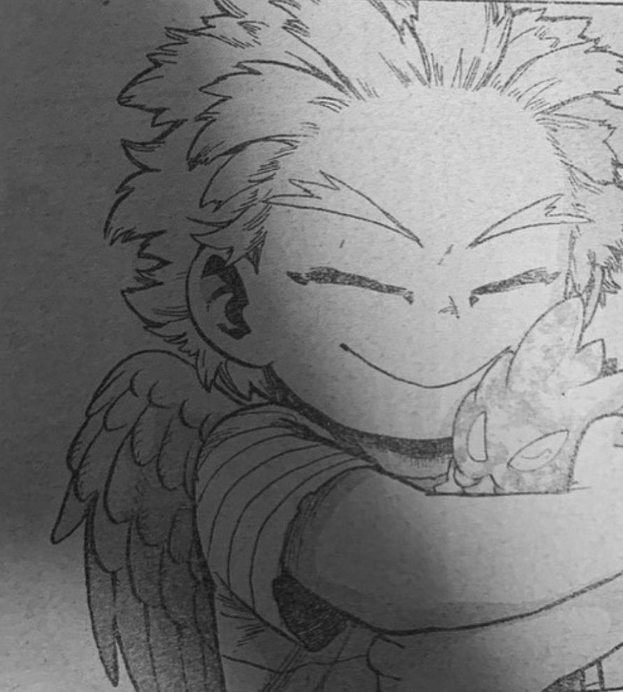 #MHA299 #mha299spoilers  PLEASE LOOK AT THIS BABY HAWKS I CAN'T... HE'S TOO PRECIOUS PROTECT HIM AT ALL COSTS