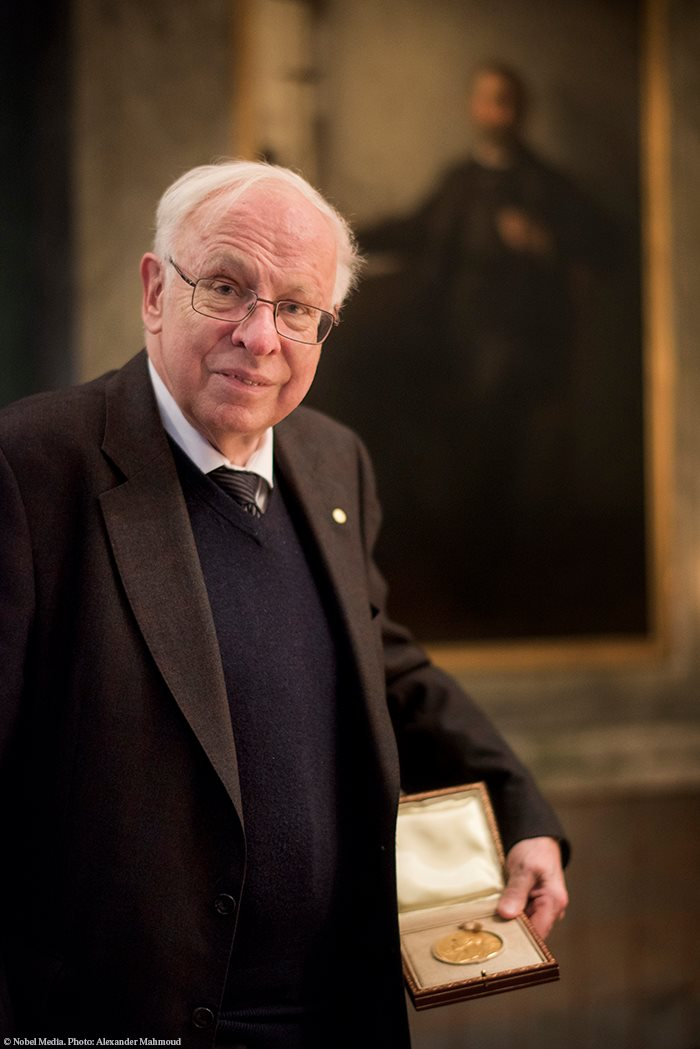 """""""I have the distinction of being the only Chemistry Laureate who failed the topic in high school!""""  - Tomas Lindahl, who turns 83 today. Happy birthday!"""