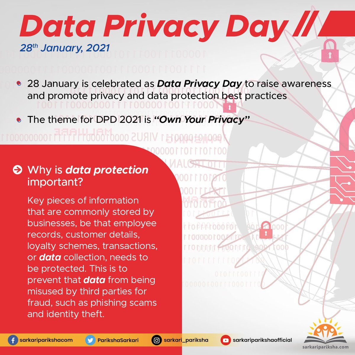 "Data Privacy Day is the signature event in a greater privacy awareness and education effort. ""DATA PRIVACY DAY""  #privacy #DataPrivacyDay2021 #DataPrivacyDay #DataProtectionDay2021 #thursdayvibes #DataScience #dataprotection #DataSecurity"
