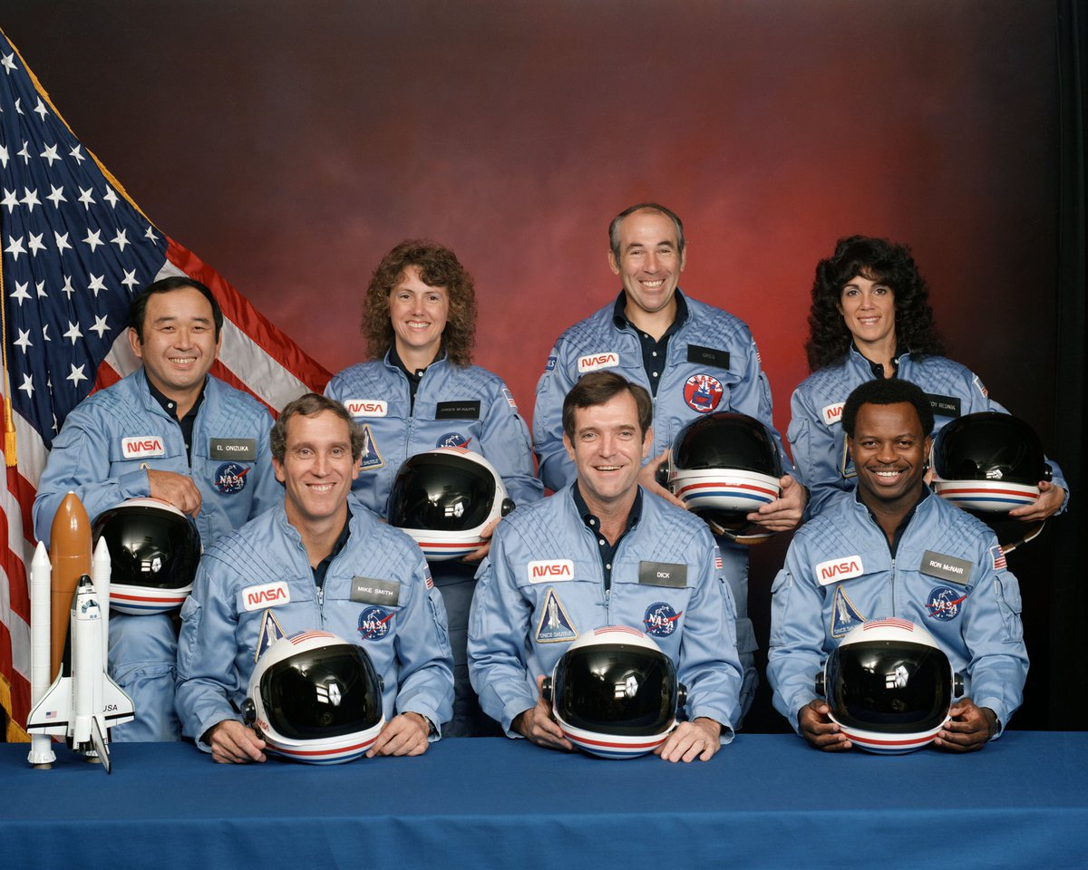 35 years ago today @NASA shuttle Challenger exploded shortly after lift off. It was the first national tragedy that I remember from my childhood. #WeRemember https://t.co/eGZtU2blCl