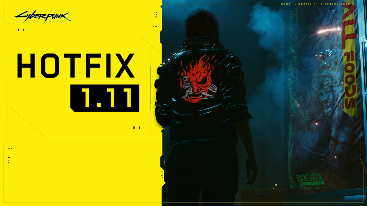 Hotfix 1.11 is available on PC, consoles and Stadia!  This update restores item randomization and fixes a bug which affected some users' holocall with Takemura in Down on the Street quest.  Details: https://t.co/SsVYRGfdha https://t.co/TAQmRilNxq