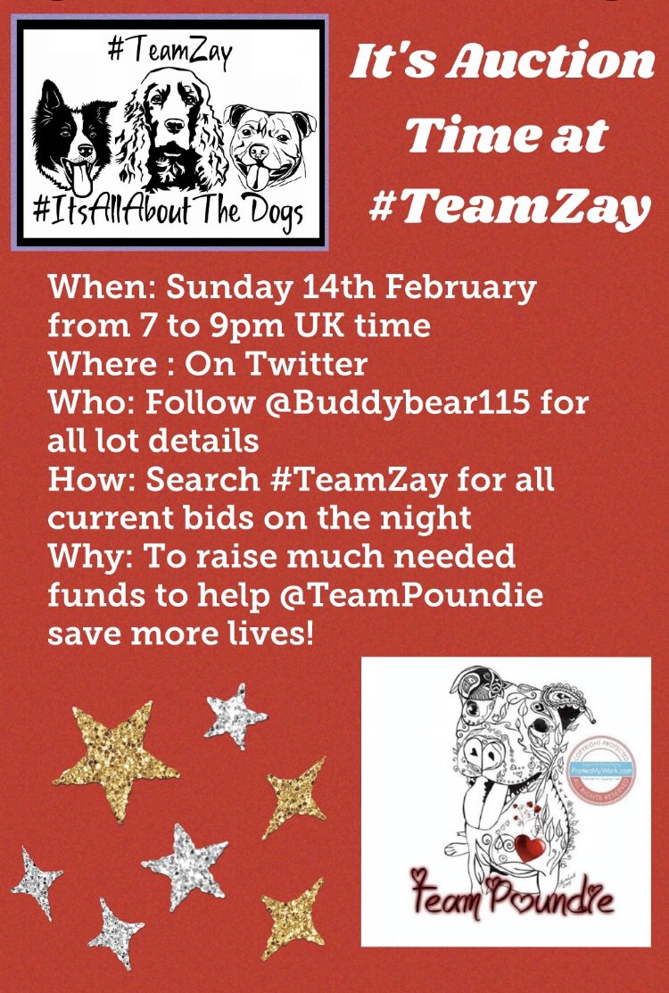 Huge #ThursdayMotivation for our next fab #TeamZay Auction on Valentines Day ! @TeamPoundie need our help to continue their super work so pls join us & RT to spread the word xxx
