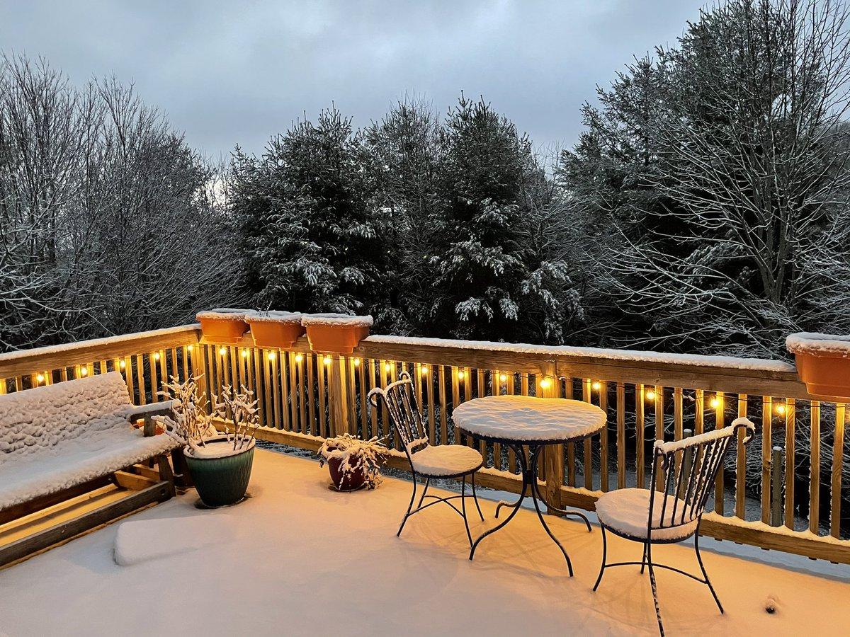 "1 7/8"" on the deck this morning & VERY windy! ❄️🌬 (Sorrento Skies, Boone, NC, 3830 FASL) @wxbrad @WataugaOnline @kmondayWSOC9 @AlConklin @spann @NWSBlacksburg #snow #wncwx #ncwx #highcountrywx"