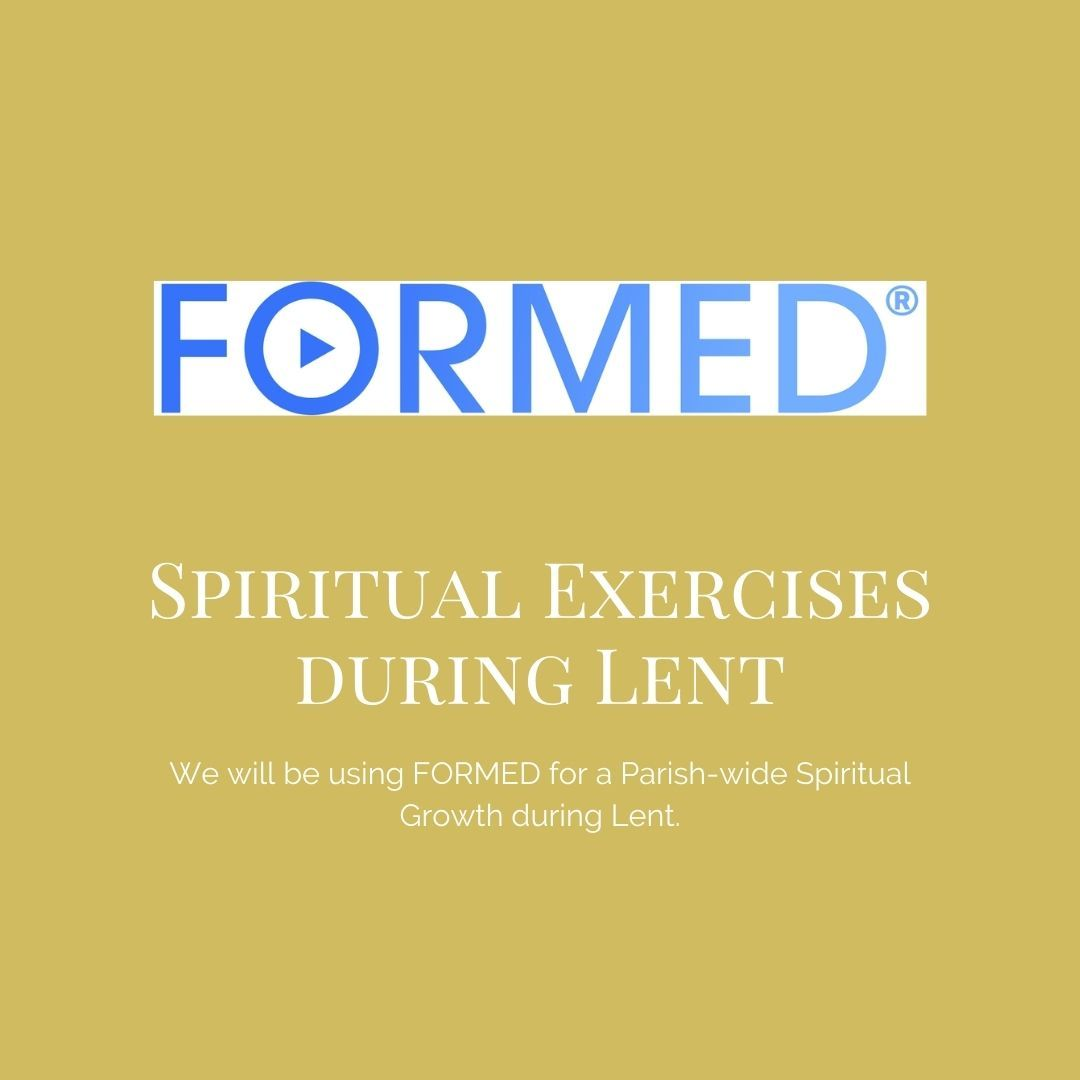 Have you joined #FORMED?  As a #Parish, we will be watching a program together. Visit  and register as a parishioner. #spiritualgrowth #community #prayer #reflection