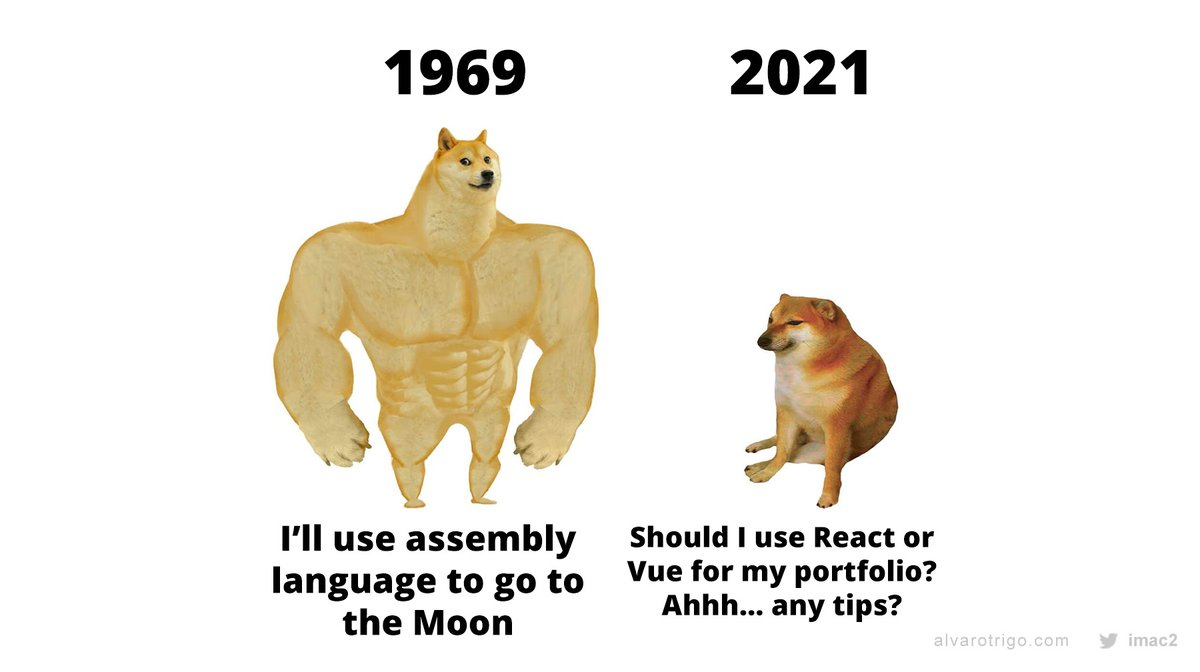 Replying to @IMAC2: Developers in 2021...