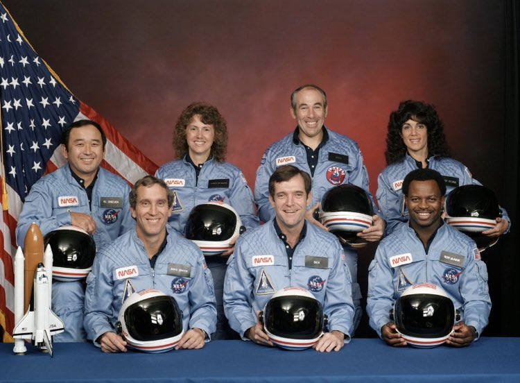 On this date in 1986, the Challenger space shuttle exploded shortly after liftoff, killing all 7 astronauts on board. #Challenger #NeverForgotten