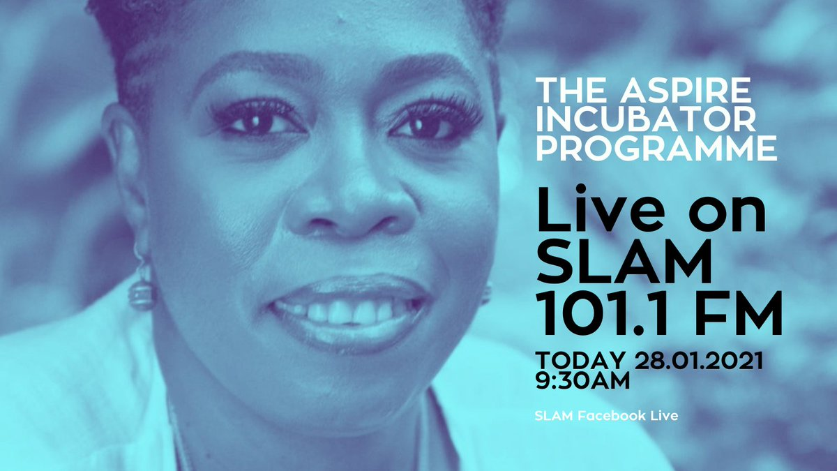 Want to learn more about applying for the #ASPIREIncubator Programme? Tune into our Radio Interview w/ ASPIRE Programme Director, Fabianna Alexander, @ggirl246 & @saltorwha on SLAM 101.1FM Live @ 9:30am. Check @Slam101FM bio to view online.   #ngos #socialimpact #socialinvestment