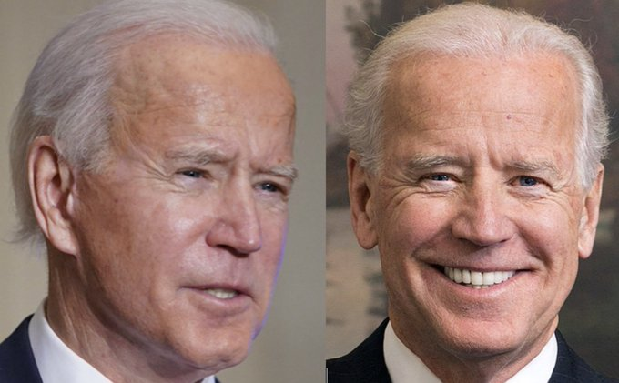 Is the sitting U.S. President the real Joe Biden? Will the real Joe Biden please stand up? Different Earlobes?