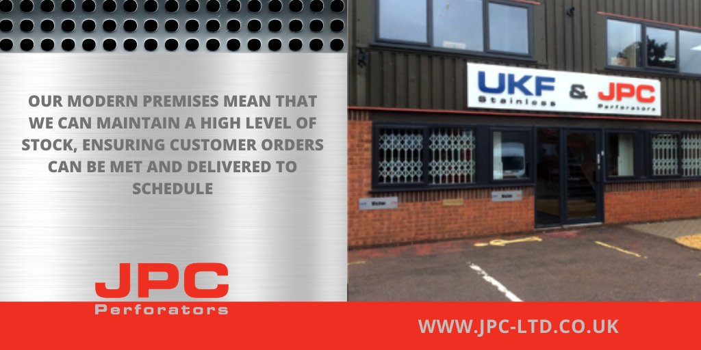 Our modern premises mean that we can maintain a high level of stock, ensuring customer orders can be met and delivered to schedule.   Click here: https://t.co/N6Vrtg1hUJ   #perforatedtube #engineering #manufacturing  #perforated #tube #bendtube #tubebending #warehouse https://t.co/r5Zj6AqbW7