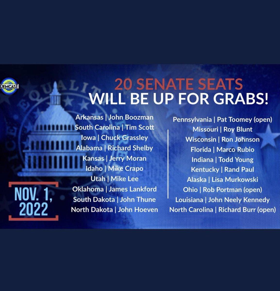 I'm looking forward to supporting the Democrats that run against these 20 GOP Senators in 2022! #faithwithoutworkisdead #TraitorsSupportTraitorTrump #BidenTakeAction #BidenHarris #AmericaOrTrump https://t.co/TU5QLdrgbV