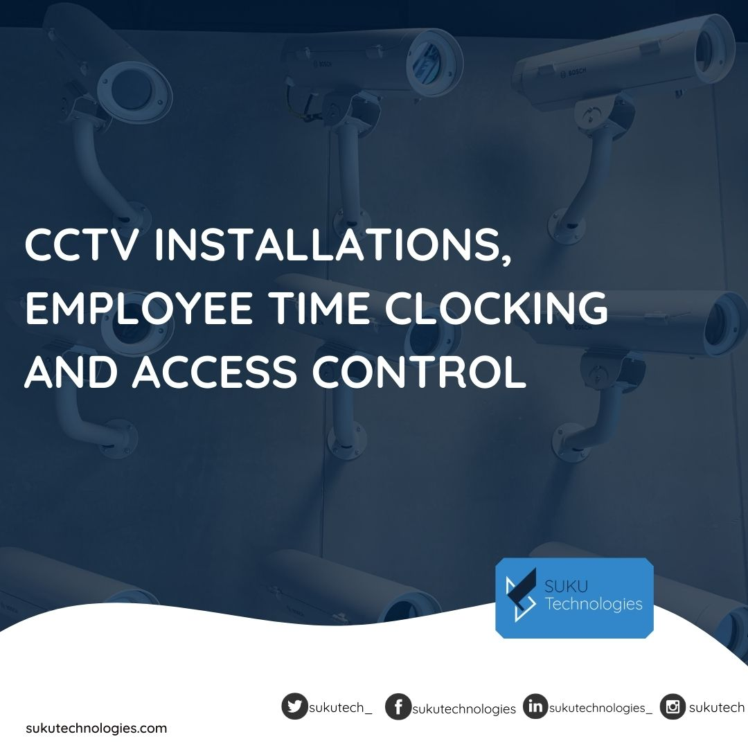 Being it your #home, #office or even #warehouse, #sukutechnologies is prompt to respond to your #CCTV Installations needs. We also provide employee Time Clocking and Access Control systems. Call us on 0559994869/0302903220 or send an e-mail to support@sukutechnologies.com https://t.co/BxRVEo53Gj
