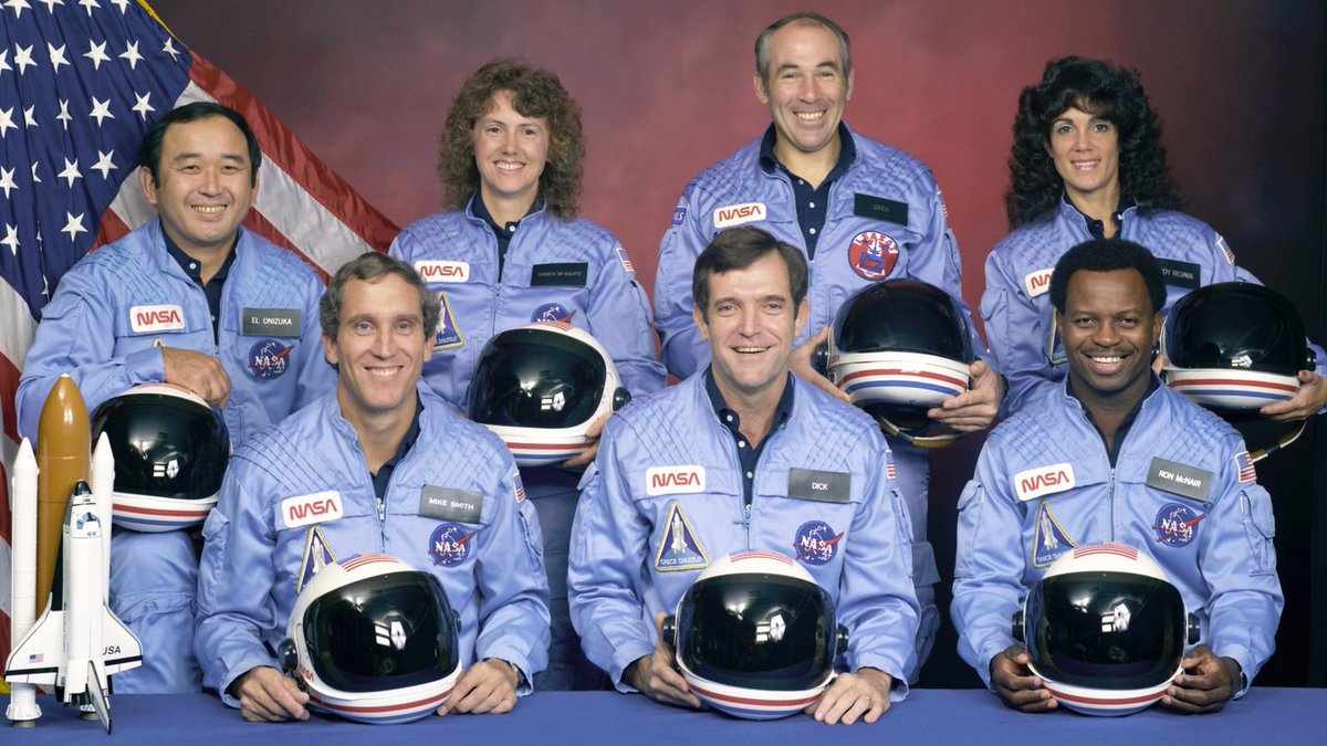 """""""I've topped the wind-swept heights with easy grace Where never lark, or ever eagle flew..."""" #Challenger  #STS51L  #OV099  #NASA"""