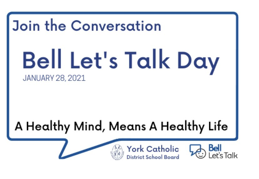 Today, Bell will donate more towards mental health initiatives in Canada by contributing 5 cents for every text, call, tweet, using the hastag #BellLetsTalk. Join the conversation on Bell Let's Talk Day to help make a positive change. @AArcadi_SO @WigstonJennifer @YCDSB
