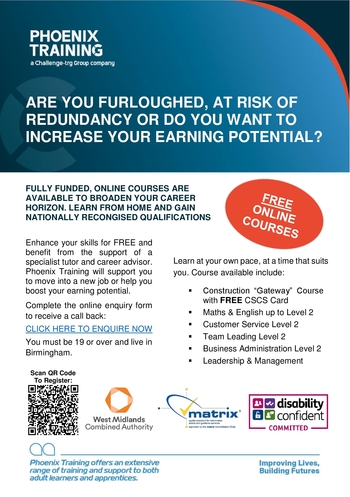 Fully Funded by West Midlands Combined Authority, our engaging online courses can be completed at your own pace alongside with the support of our Specialist Tutors & Careers Advisors.   Simply click the link to begin:     #workingfromhome #ThursdayThoughts