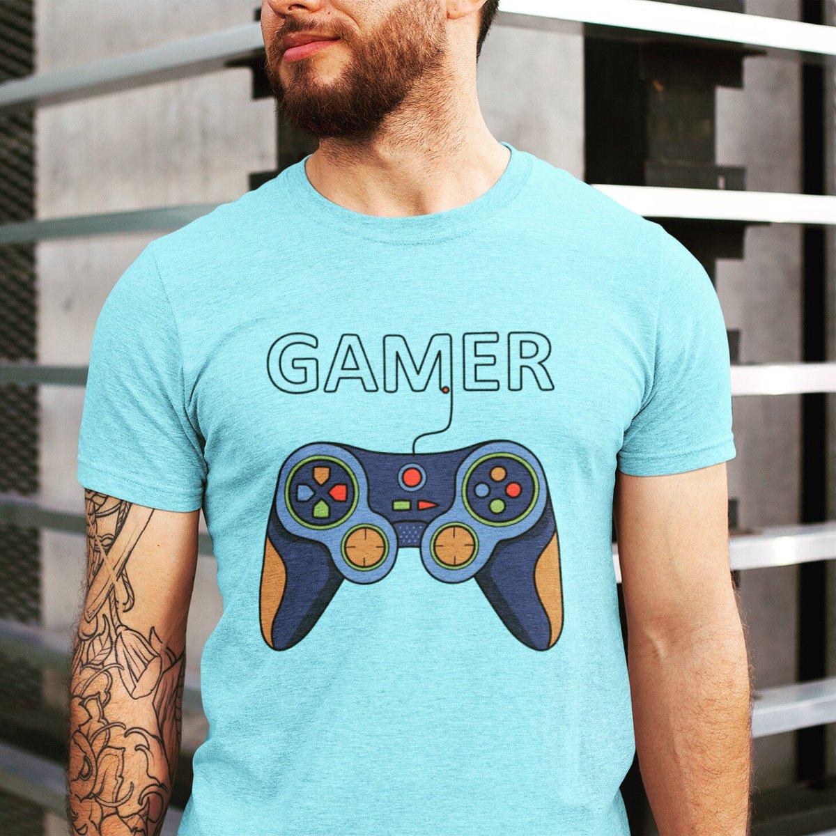Coming through with this solid gamer design to celebrate an old love! #gaming   Love this tshirt? Shop link in bio.   #gamer #GamersUnite #retrogamer #geek #consolegamer #playstation #videogamer #gamergirls #ps #gamerguy #art #tshirt #gamingcommunity #thursdaymorning