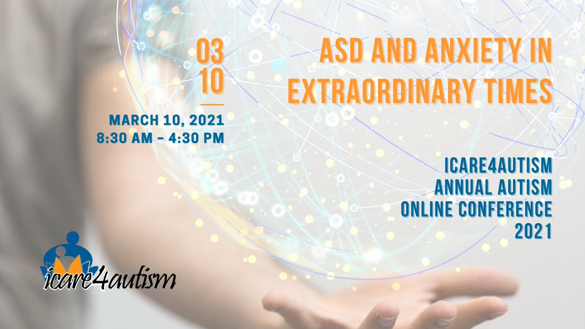 We are happy to announce @icare4autism  2021 National Autism Online Conference - #ASD and #Anxiety in Extraordinary Times!  learn more and purchase tickets here:   #ICareCon21 #IC4A #autism #autismo #conference #keynotespeaker #networking  #onlineconference