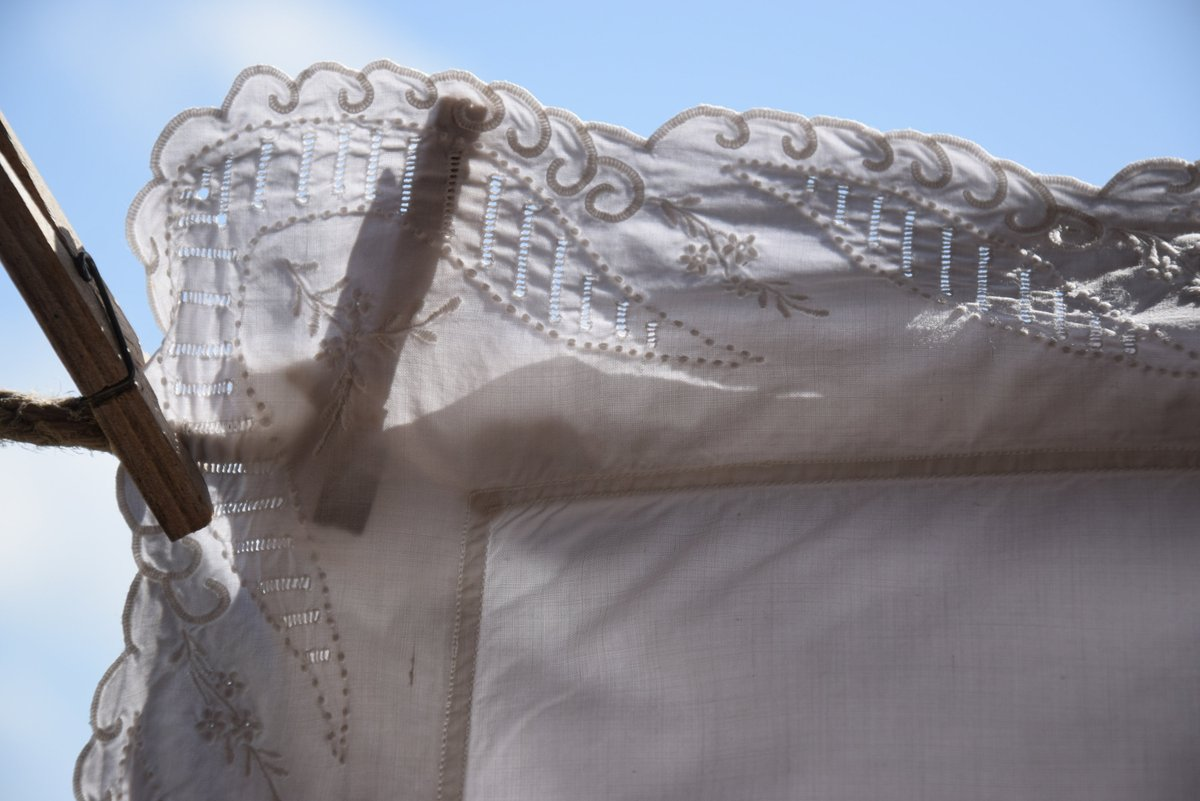 Antique Pillowcase Linen White Bedding Pillow Sham Pillow Case Handmade GM Monogram Embroidery Open work Ancient Point Home Decor Romantic      #white #antique #vintage #french #linen #organic #flax #ruffled #embroidered #handmade #rustic #old
