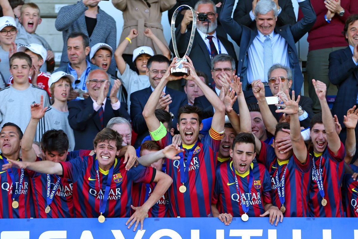🏆 He was the first man to lift the #UYL trophy when @FCBmasia triumphed in 2014 ...  .... now @RogerRiera_ has returned to @FCBarcelona after more than 6 years away, signing from @NACnl 🔙 https://t.co/vFVw84kW9Z