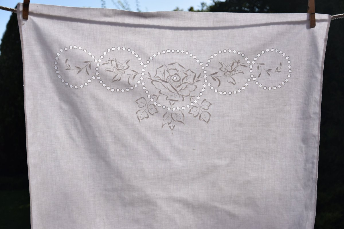 Antique French Pillowcase Linen White Bedding Pillow Case Sham HandMade Home Decor      #white #antique #vintage #french #linen #openwork #organic #flax #old #embroidered #handmade #lace #madeira #sham #case #pillow #bedding
