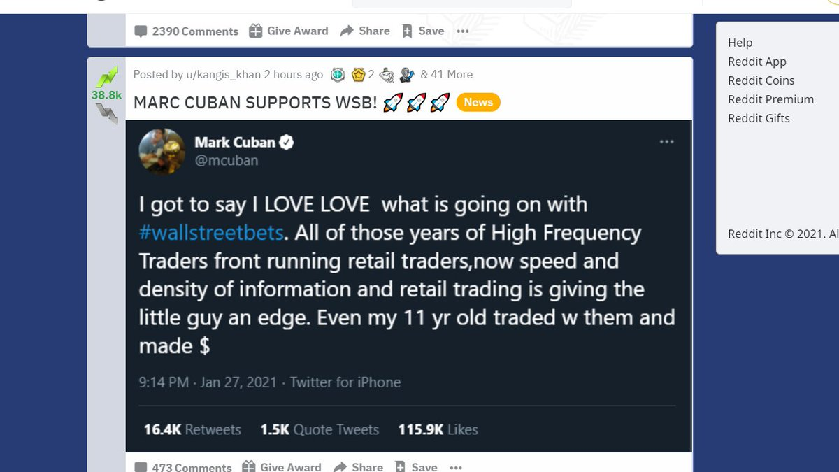 It's Retail Traders vs Hedge Funds #GameStop #wallstreetbets #amcstock #WallStreet #markcuban @mcuban #RobinHood #WallStreetBetsnew