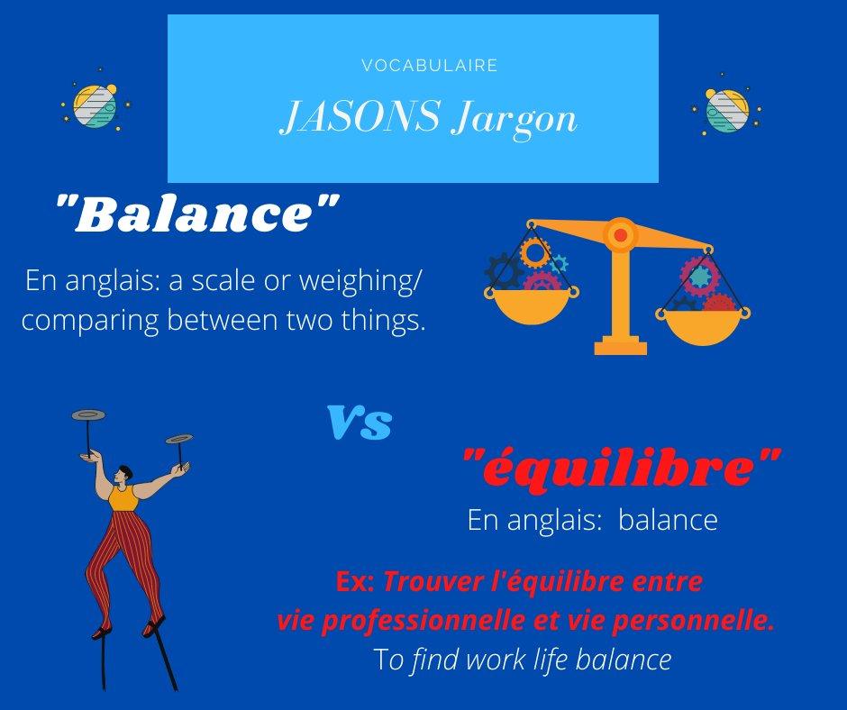 Expression: Équilibre ou Balance #French #TFD #ThursdayToughts #LesAnglicismes