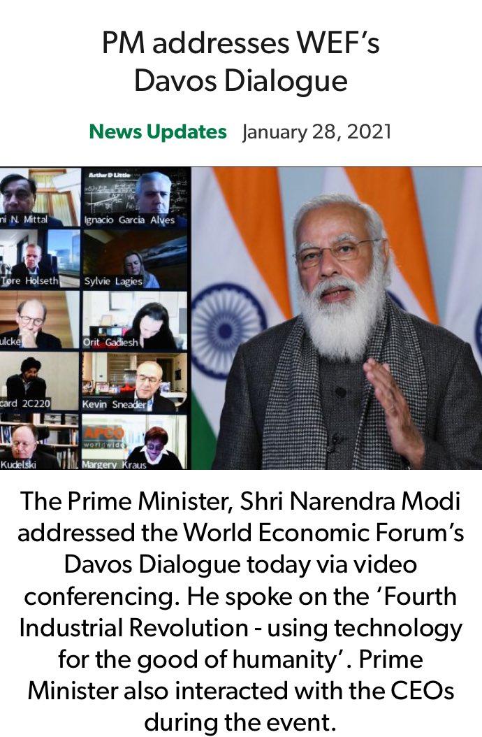 PM addresses WEF's Davos Dialogue nm-4.com/QN3t61 via NaMo App
