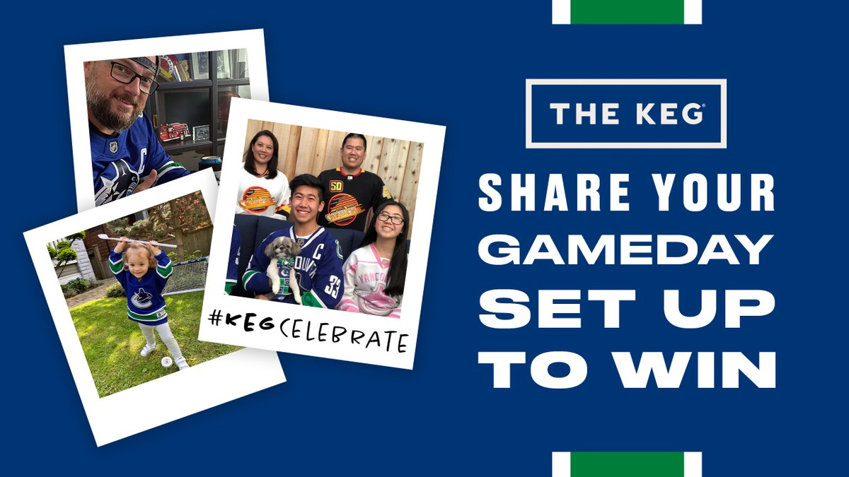 Up your takeout game with @TheKeg while cheering on the #Canucks from home. Tweet us a photo of your gameday set up using #KegCelebrate for your chance to win a $200 Keg gift card!   One random winner will be chosen at the 2nd intermission. Contest open to BC Residents 19+.