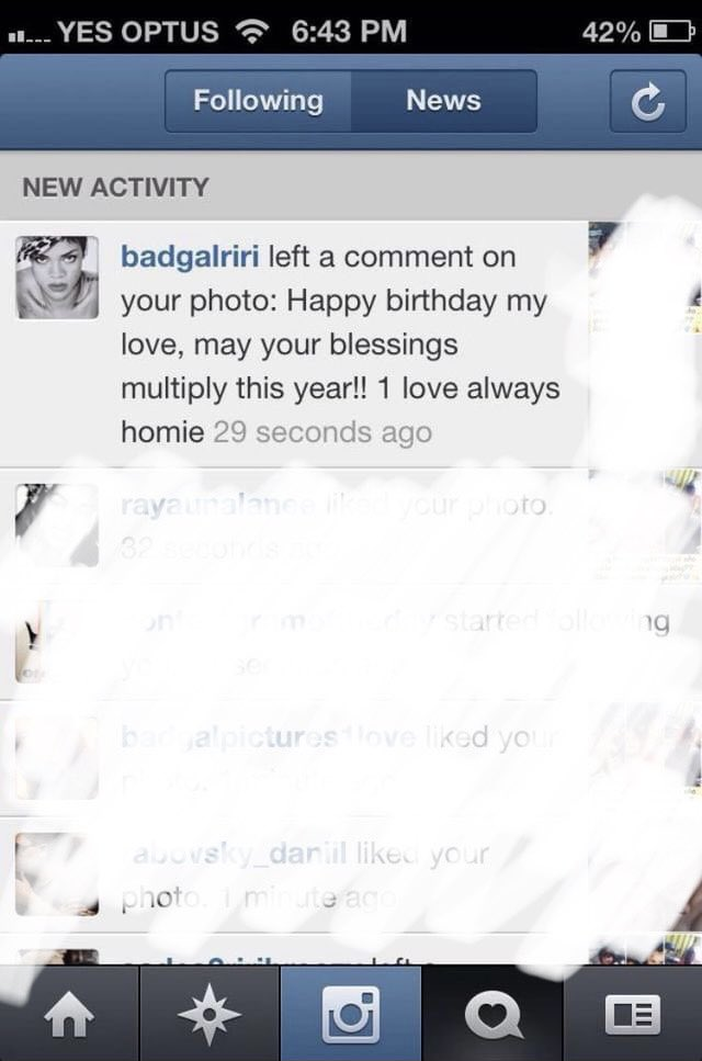 The first time rihanna wished me a happy birthday     8 year throwback