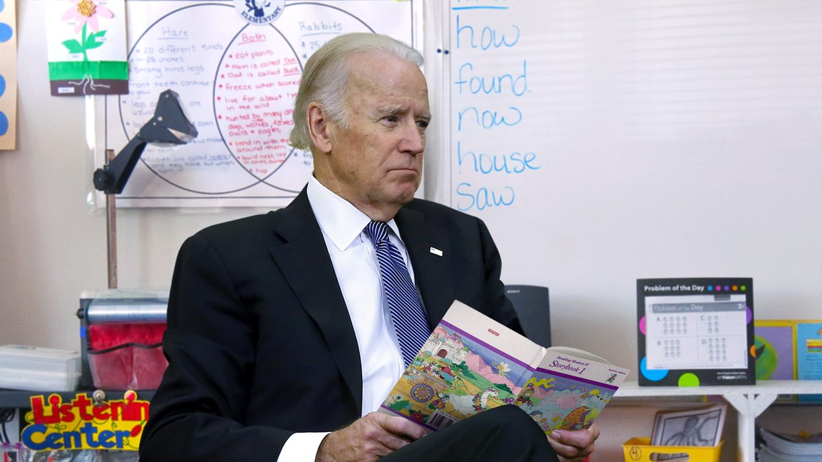 Biden Continues Reading 'The Pet Goat' To Schoolchildren After Being Informed Of GameStop Situation https://t.co/c8fbEQ9wGv https://t.co/1uaqrXOKkV