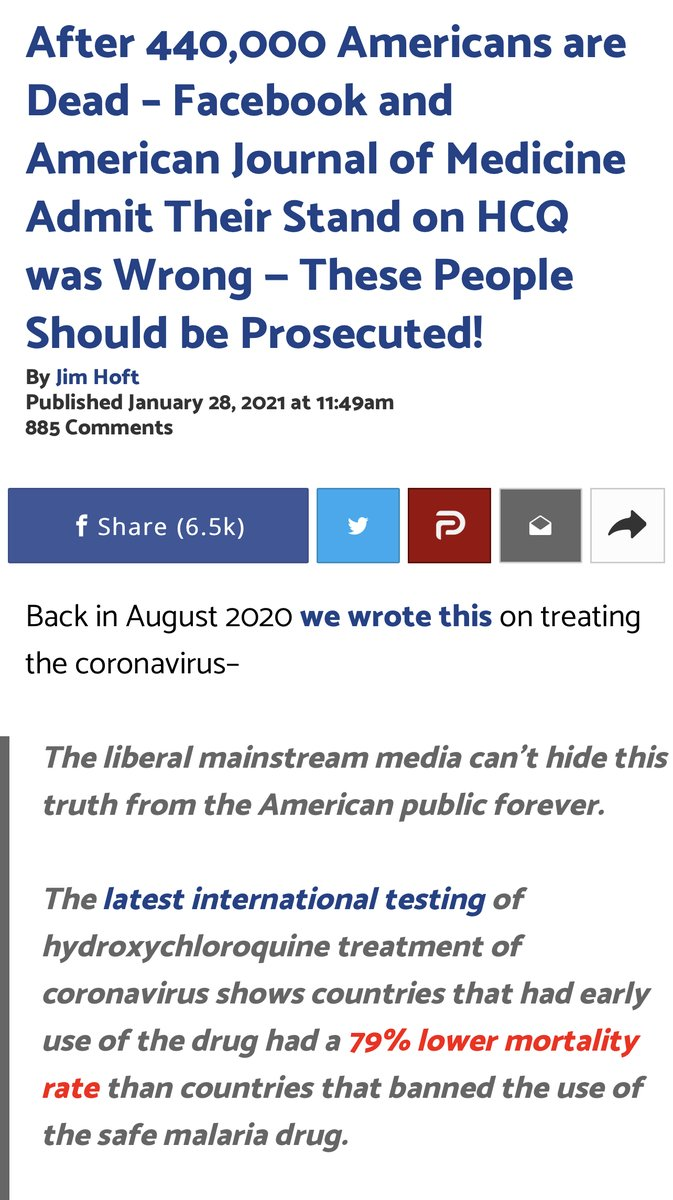 """Facebook just announced it """"made a mistake"""" when it censored studies showing HCQ saves lives. Censorship is never """"a mistake.""""Tech executives repeatedly made a calculated decision, month after month, silencing physicians worldwide.  Censorship kills."""