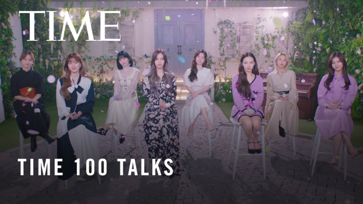 """TWICE (@JYPETWICE) performs """"DEPEND ON YOU"""" at #TIME100Talks  https://t.co/LmbnlCNI0C https://t.co/955mtHGvNz"""
