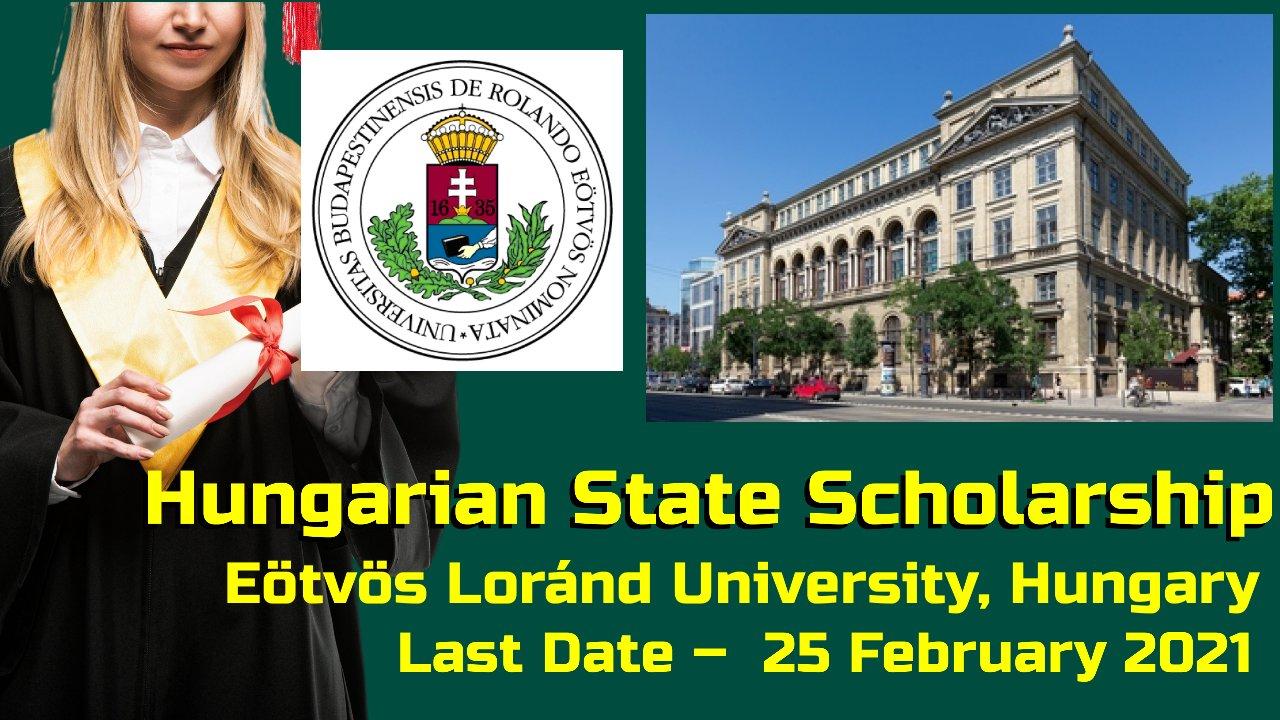 Hungarian State Scholarship at  Eötvös Loránd University, Hungary