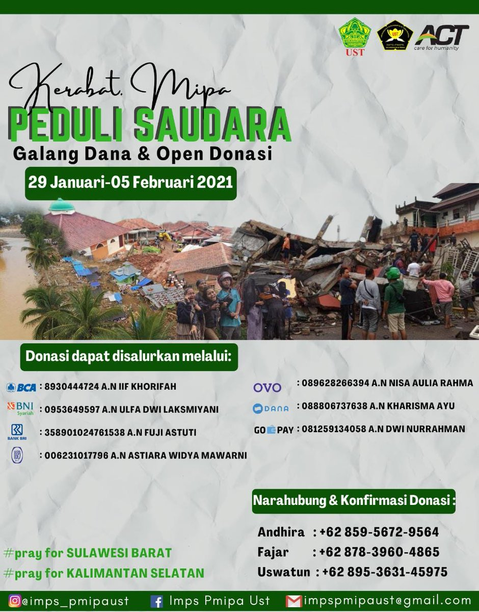 Twitter please do your magic #Donations #prayforsumedang #prayforsumedang #prayformerapi #PrayforKalSel