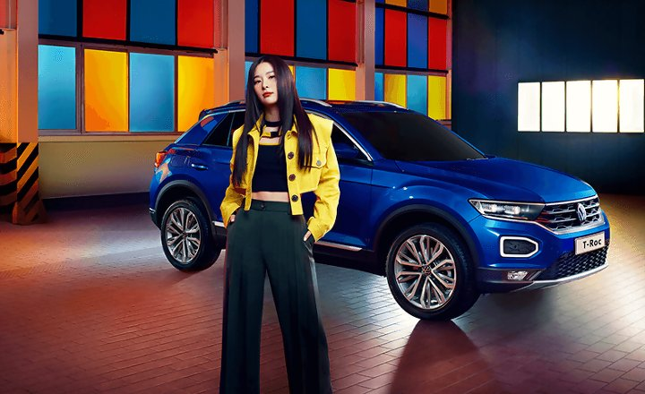 """5REDVELVET on Twitter: """"[INFO] Volkswagen shares #SEULGI was chosen as  ambassador for the new T-Roc for her unique sensibility and ability to  present unique performances with her own color. They added she"""