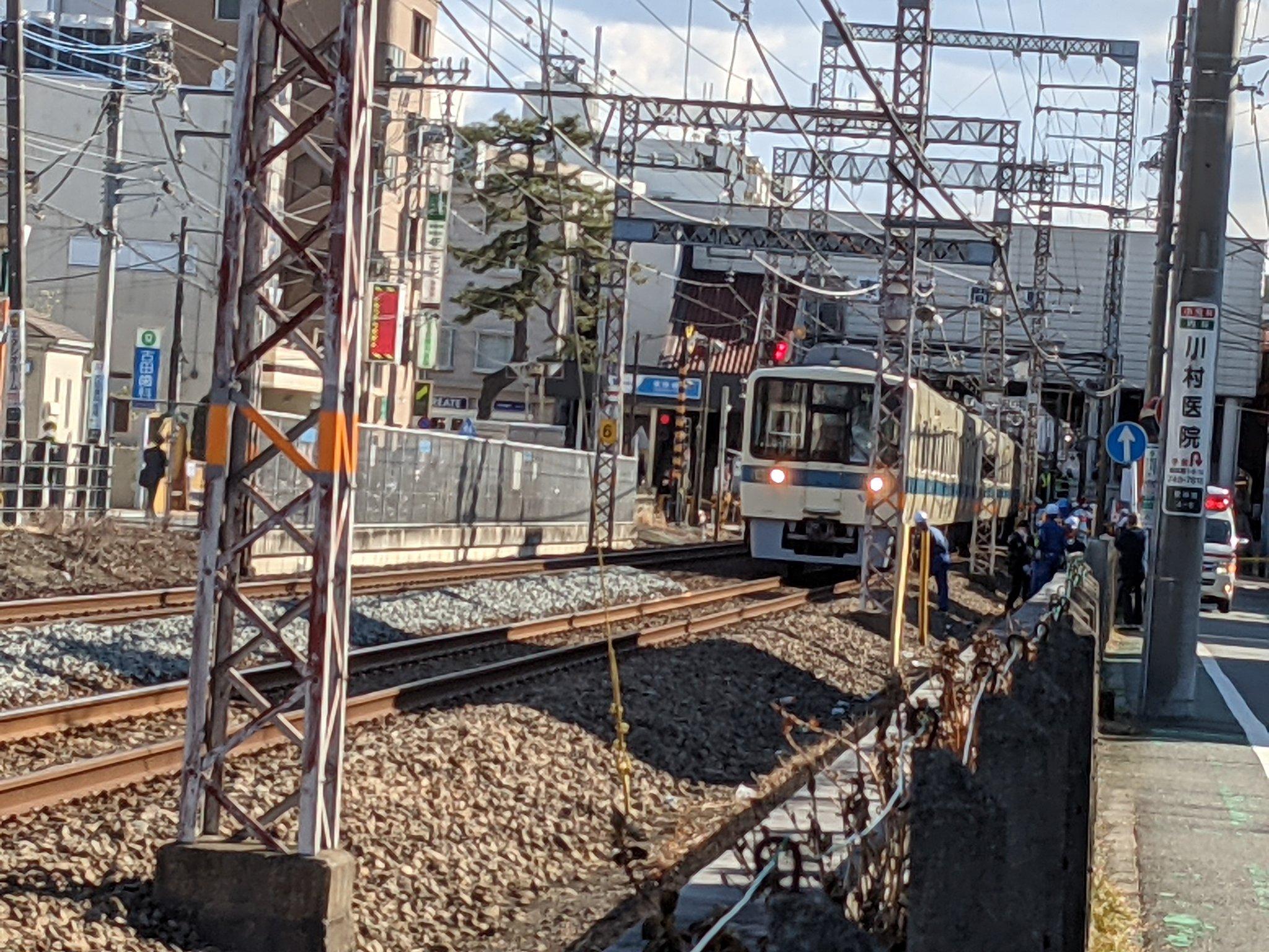 江ノ島線の東林間駅でりゅうきさんが飛び込み自殺を図った人身事故現場の画像