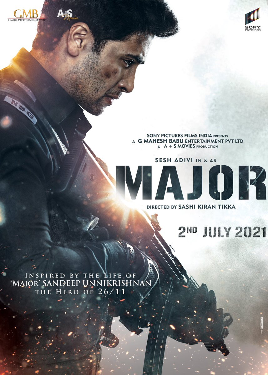 2nd July 2021. The #MAJOR day 😊  @adivisesh @sonypicsindia @GMBents @AplusSMovies @SashiTikka #MajorOnJuly2