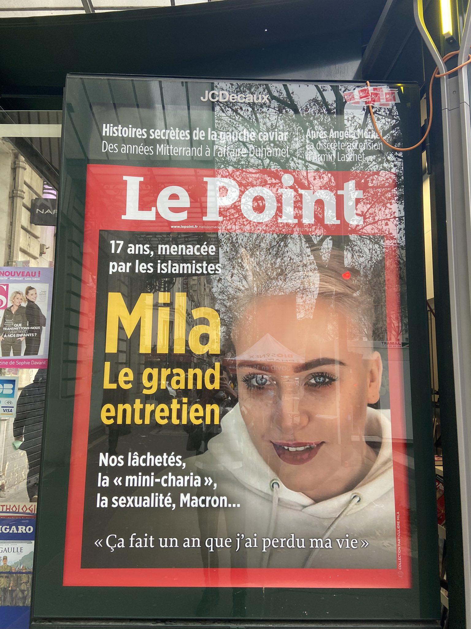 Mila crache sur les musulmans : Le Point lui donne 2 fois sa Une (en 3 mois)