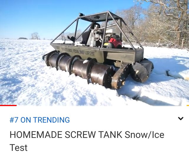 Arrr back in my Friday afternoon slot of number 7 on trending. Have you seen latest video......  #colinfurze #trending #newvideo #screwtank