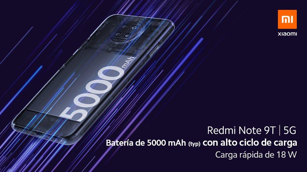 Redmi Note 9T Batería